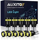 AUXITO 194 LED Light Bulb 6000K White Super Bright 168 2825 W5W T10 Wedge 24-SMD 3014 Chipsets LED Bulbs Error Free for Car Dome Map Door Courtesy License Plate Lights (Pack of 10)