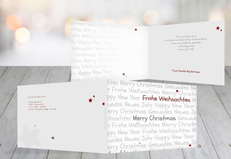 Kartenparadies Grußkarte Weihnachten Grußkarte Schrift, hochwertige Weihnachtsgrüße als Weihnachtskarte (Format  148x105 mm) Farbe  HellBlau B01MT8JBUJ   Bekannt für seine schöne Qualität    Deutschland Outlet    Kostengünstiger