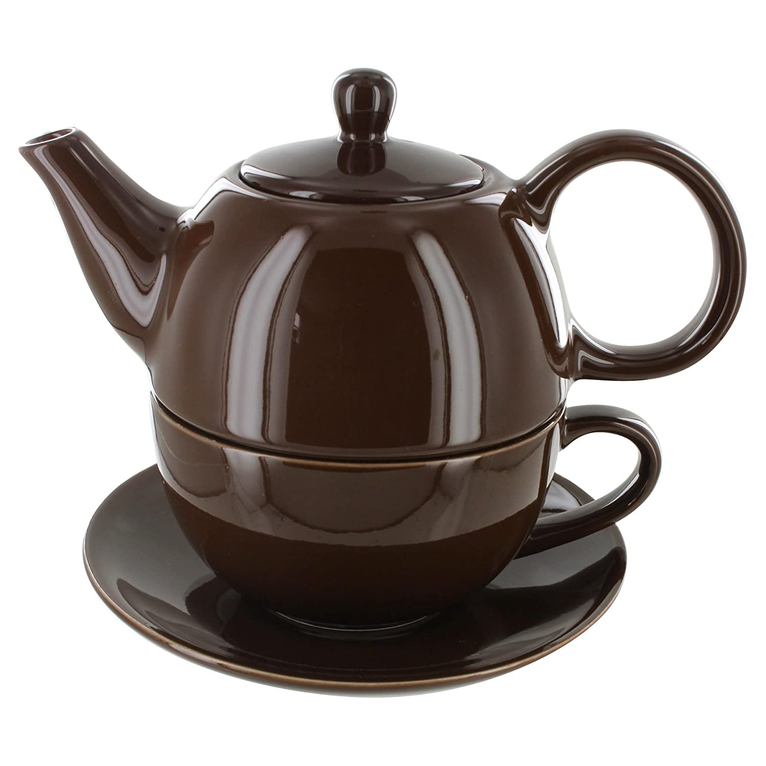 Tea for One Brown Gloss Finish - English Tea Store Brand Online Stores Inc.
