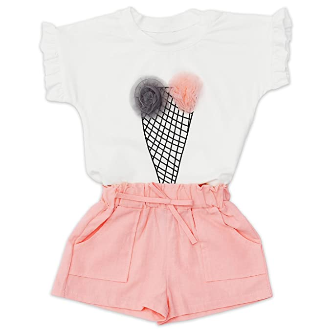 73523bf26 Amazon.com  PatPat Toddler Kids Baby Girl Romper Clothes Sweet Cute ...