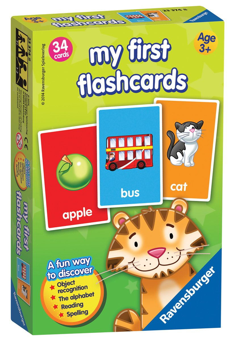 Ravensburger 23374 First Flash Card Game for Kids Age 3 Years and Up-Ideal for Object Recognition, The Alphabet, Reading and Spelling