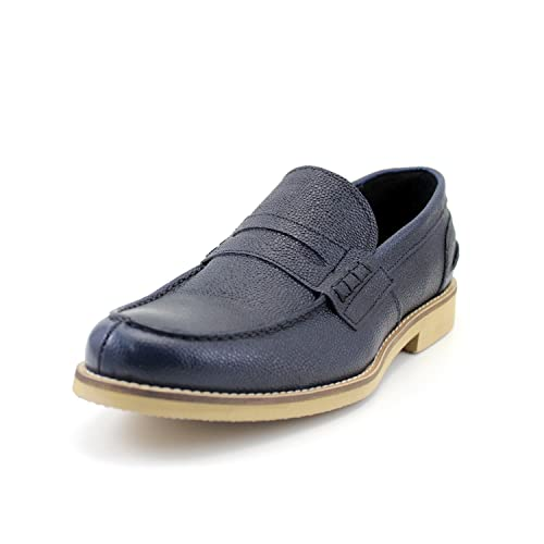 GIORGIO REA Zapatos Para Hombre Hechos a Mano EN Italia Mocasines Cómodo, Casual, de