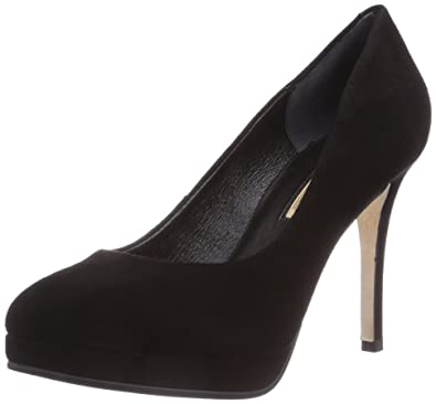 b20ab0060d2f17 Buffalo London Womens 333X-081 KID SUEDE Plateau Pumps Black Size  5 ...