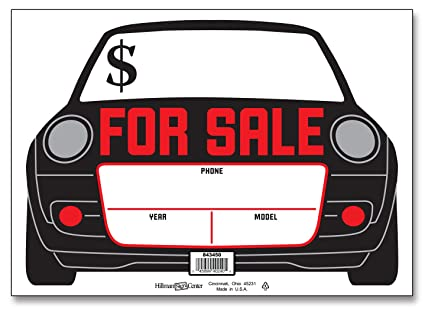 Amazon Com Hillman 843450 Car For Sale Sign With Price Phone