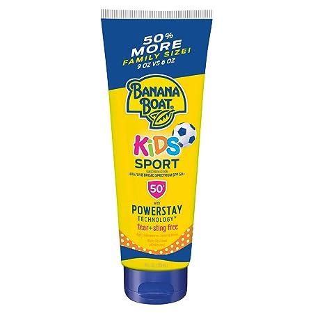 Banana Boat Kids Sport Tear Free, Sting Free, Reef Friendly Sunscreen Lotion, SPF 50