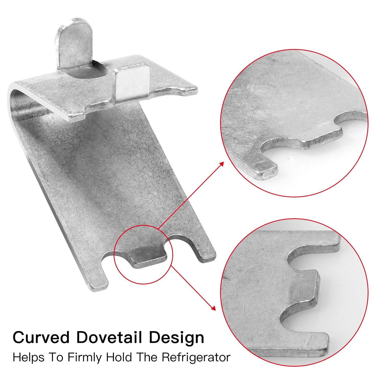 10 Pieces 920158 Freezer Shelf Clip Freezer Cooler Shelf Support Shelf Square Clips Stainless Steel Shelf Clip for Refrigerator