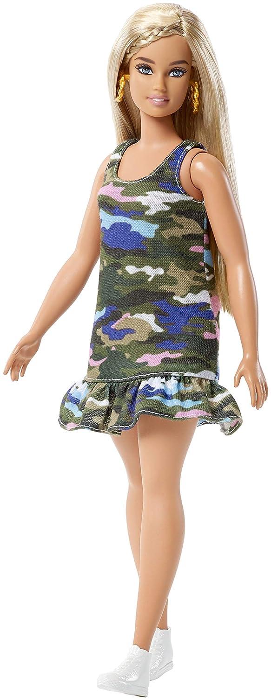 Barbie Fashionistas Urban Camo Doll, Curvy Mattel FJF54