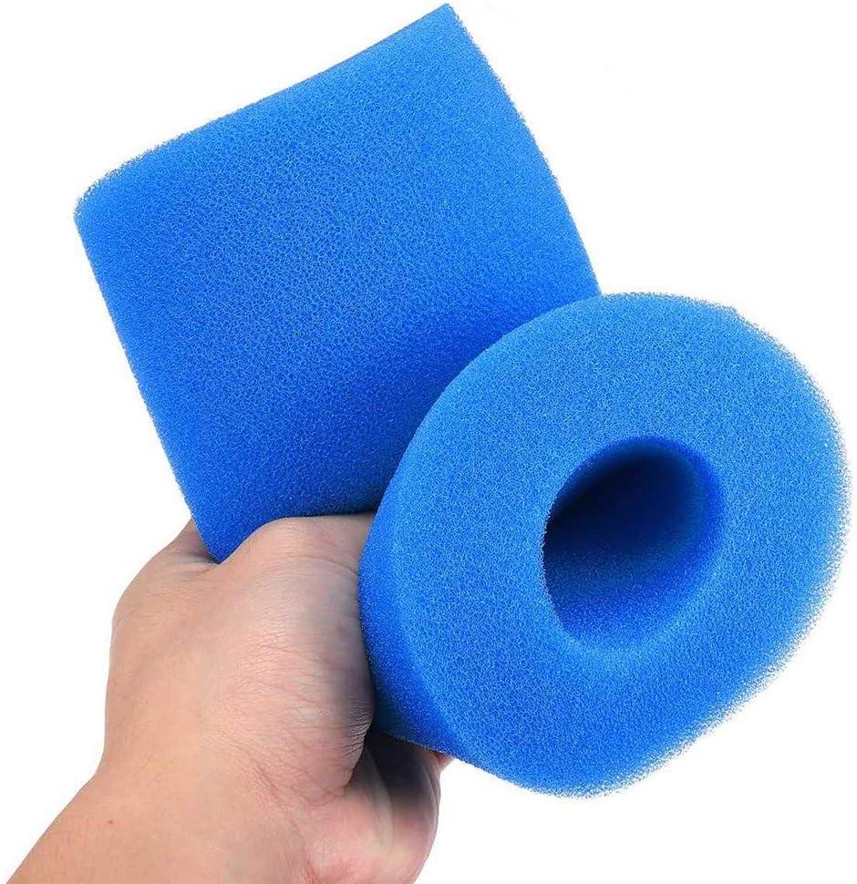 Mousse d/éponge de d/écapant de Filtre de Piscine r/éutilisable//Lavable pour l/éponge de Cartouche de Type A dIntex Lot de 1 Bleu Filtre de Piscine