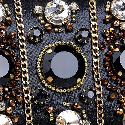 PLYY pour Crystal Noir Sacs de Toutes Saisons Les Mariage Polyester événement en Sac Party Rivet de Detailing Femmes soirée q1Sfwq