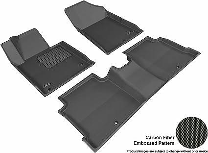 3D MAXpider Front Row Custom Fit Floor Mat for Select Hyundai Sonata Models Black Kagu Rubber