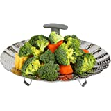 """Vasdoo Vegetable Steamer Basket for Instant Pot Accessories,Fits 6,8 Quart Instant Pot Pressure Cooker,Stainless Steel Foldable Steamer Insert with Extendable Handle (7"""" to 11"""")"""