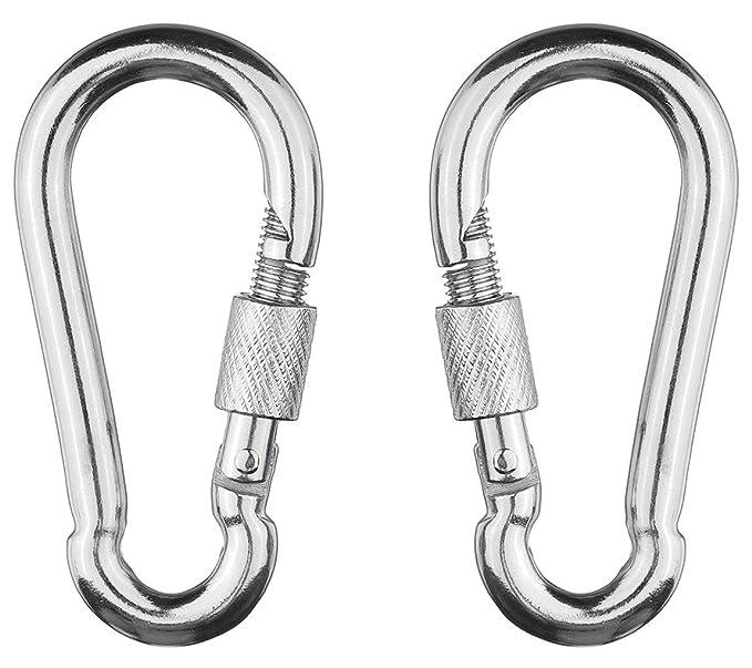 10 Aluminum Hiking D-Ring Key Chain Clip Snap Hook Karabiner Camping Keyring 10x