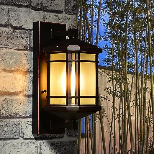 Moderno simple lámpara de pared exterior jardín Villa Puerta Paisaje Terraza Pasillo Balcón paredes Lámparas de pared Agua metal Wall Light E27 * 1: Amazon.es: Iluminación
