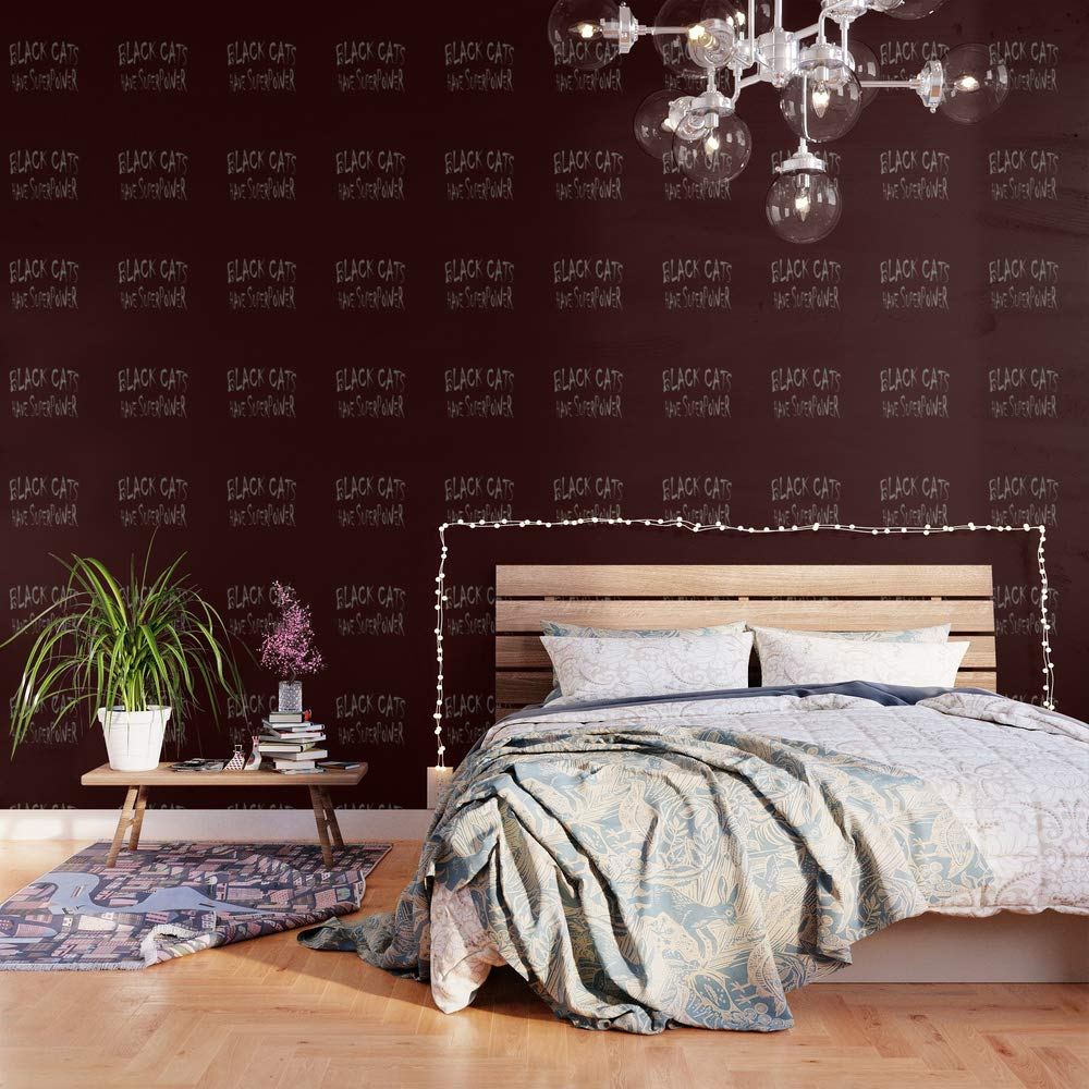 Society6 Wallpaper, 2' X 4', Black Cats Power! by vic4u