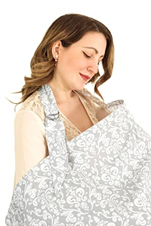 d8a3cb5a98d7f Breastfeeding Cover with Adjustable Strap * 100% Premium Cotton * Boned Nursing  Cover * Breathable