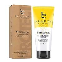 Mineral Sunscreen SPF 25 - Zinc Oxide Sunscreen, Baby Sunscreen, Kids Sunscreen,...