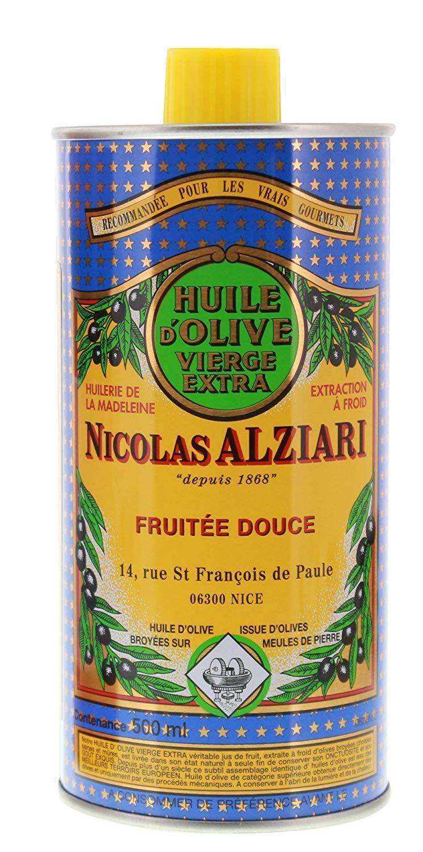 Nicolas Alziari Extra Virgin Olive Oil Fuitee Douce 34 Fl.oz (500mL) (Pack of 4)