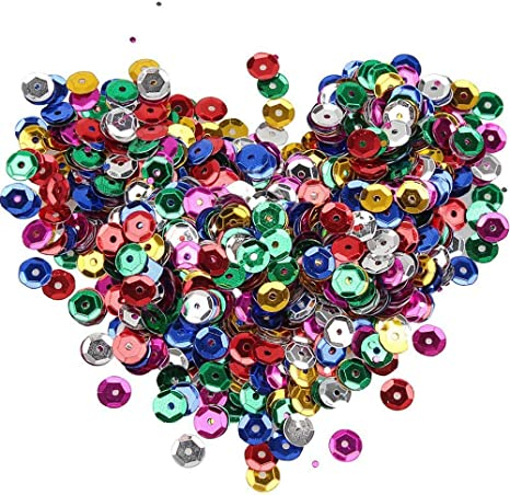 1500 x 4mm Red Flat Round High Quality Loose Sequins in Clear Plastic Bottle
