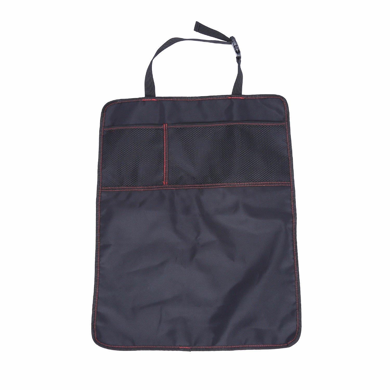 Durapower Kick Mat Car Seat Back Protectors Waterproof Auto Seat Covers Backseat Organizer Kick Guard Seat Saver