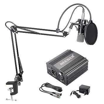 Neewer 2-pack Nw b-3 6-zoll Studio Mikrofon Mic Runde Form Wind Pop Filter Mask Schild Mit Ständer Montage Clip Schwarz Filter