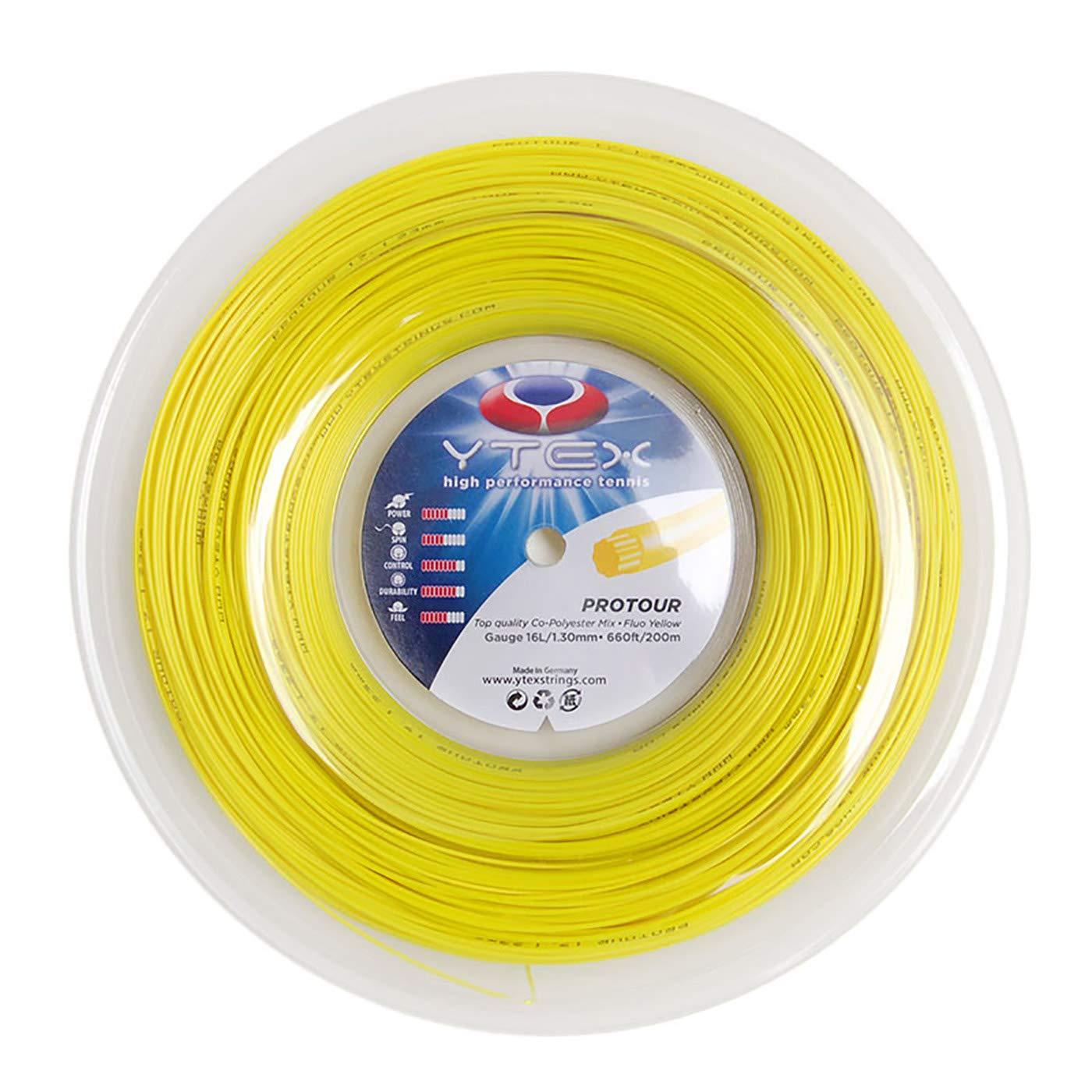 YTEX Protour Fluo (16L Yellow Tennis 1.30mm) Yellow Racquet String Reel (16L Gauge, 1.30mm) 141[並行輸入] B07PM8878X, アクネシ:d195e81d --- amlakzamanpour.ir