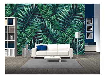 Wall26 Watercolor Tropical Palm Leaves Seamless Pattern Vector Illustration Removable Wall Mural Self Adhesive Large Wallpaper 100x144 Inches Amazon In Home Kitchen Tropical leaves wallpaper vectors (21,473). wall26 watercolor tropical palm