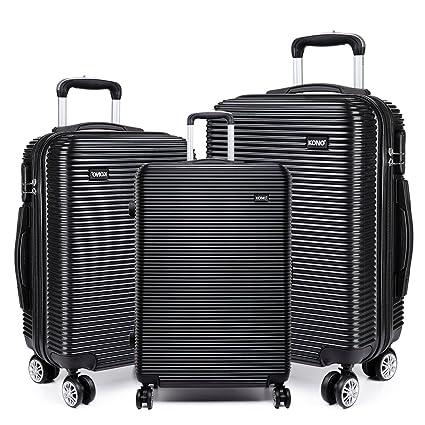 Lightweight Suitcase 4 Wheel Luggage Travel Trolley Case Hardshell 3 Of Set