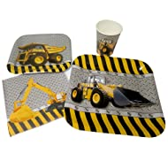 Blue Orchards Construction Party Standard Party Packs (65+ Pieces for 16 Guests!), Construction Party Supplies, Construction Birthday Supplies