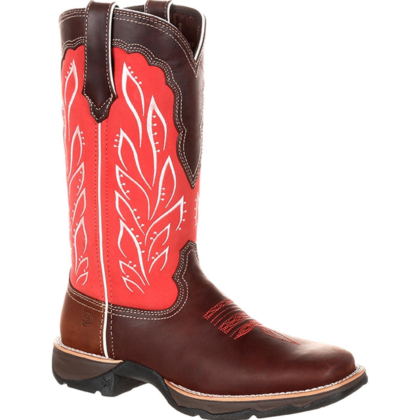 Durango Women's Lady Rebel Western Boot B07DJB28XM 7 M US|Mahogany Strawberry Sunrise
