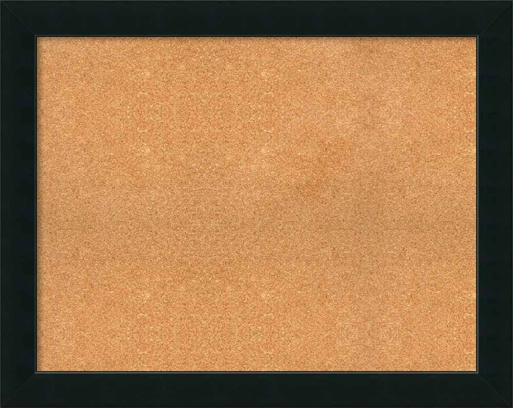 Framed Cork Board, Choose Your Custom Size, Corvino Black Wood: Outer Size 39 x 31''