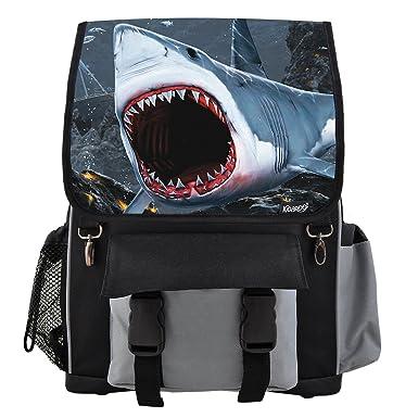 Great White Shark Bite School Backpack For