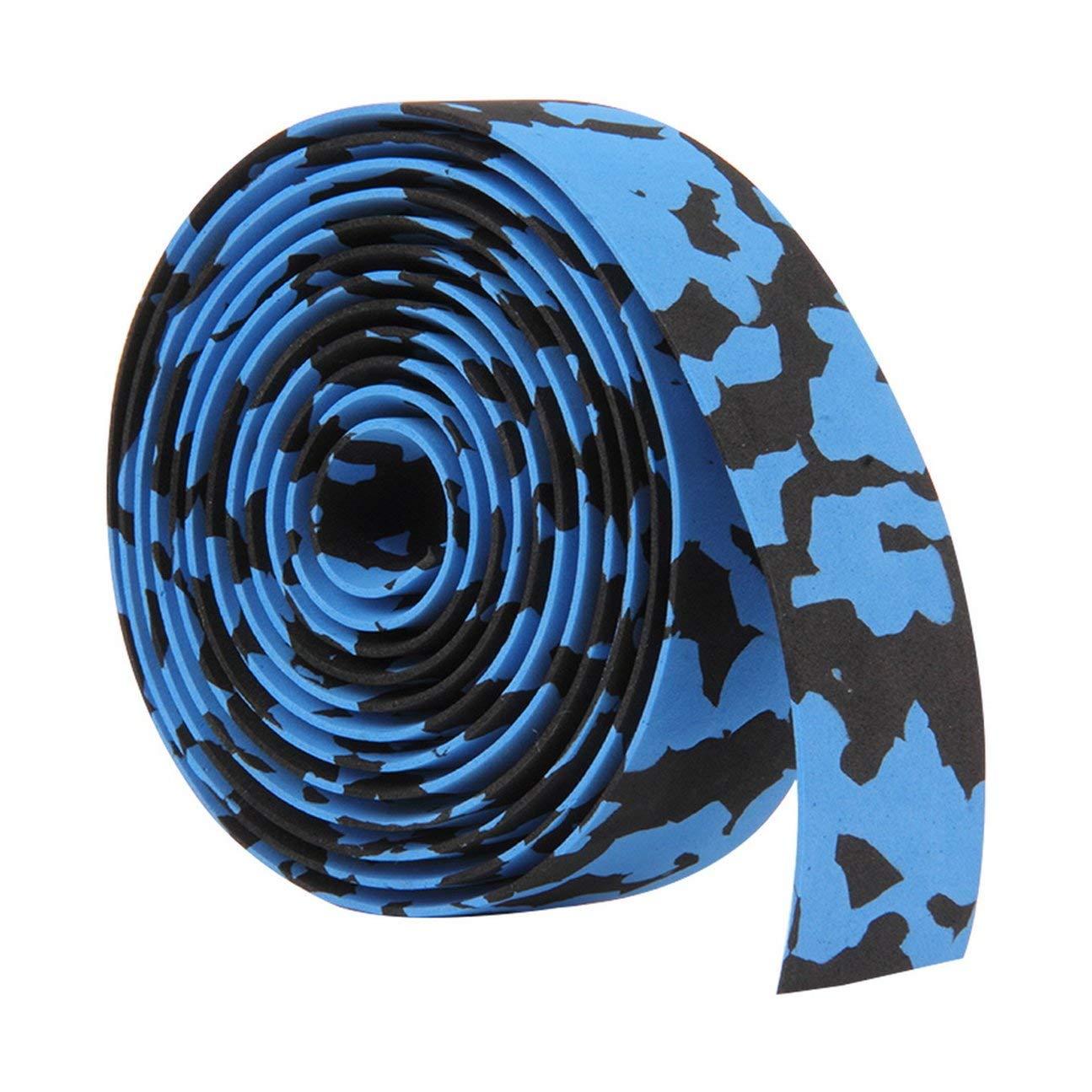 MachinYesell Haute Qualit/é Color/é V/élo Poign/ée Ceinture V/élo V/élo Li/ège Guidon Ruban Adh/ésif Wrap 2 Bar Gratuit Bleu Noir