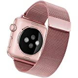 Apple Watch Band 38mm, Penom Milanese Loop, Magnetic Closure Clasp Stainless Steel Strap Bracelet - Rose Gold (Apple…