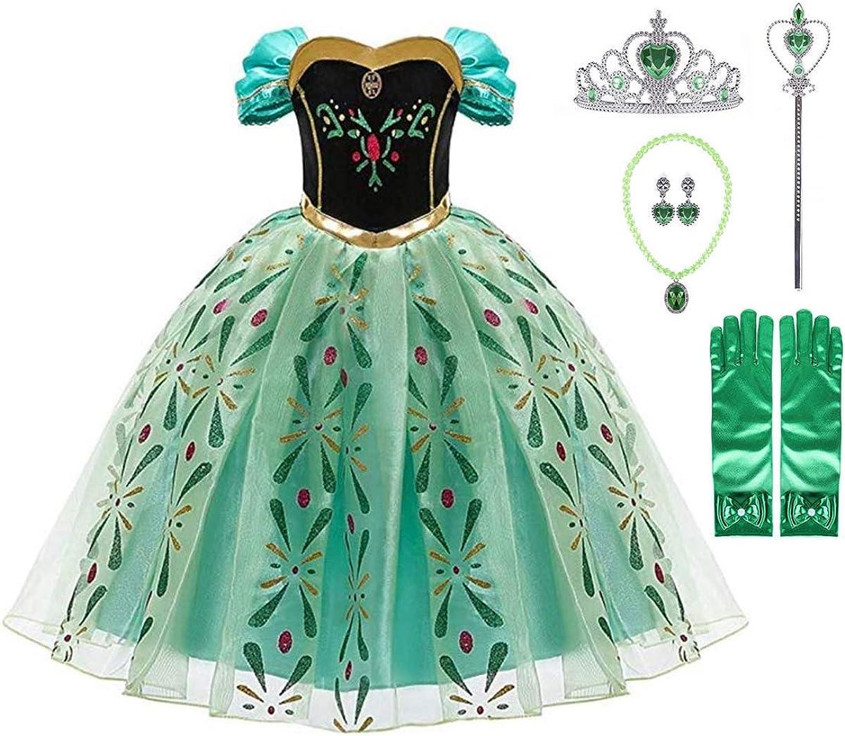 Kosplay Princesa Disfraz Traje Parte Las Niñas Vestido/Capa Disfraces y Accesorios para Niñas, para Carnaval Cosplay Navidad Fiesta - Regalos para Niños 3-9 años