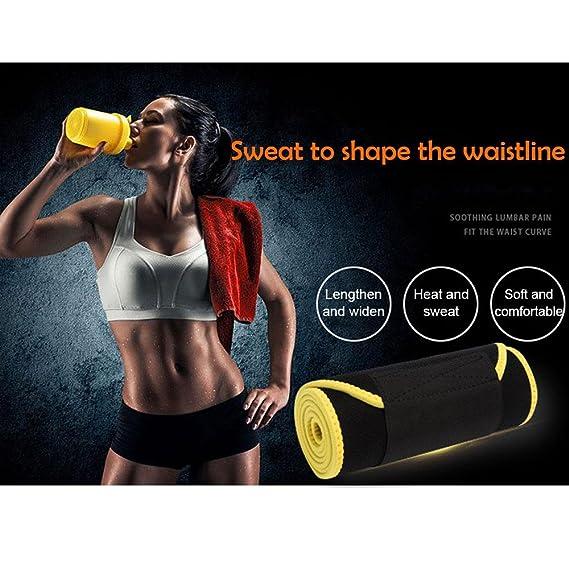 b70629ab79 Aolvo Slim Fit Waist Trainer Adjustable Stomach Wraps Thermo Shaper Stomach  Fat Burner Neoprene Waist Belt Sweat Waist Trainer Trimmer Belt Body Shaper  ...