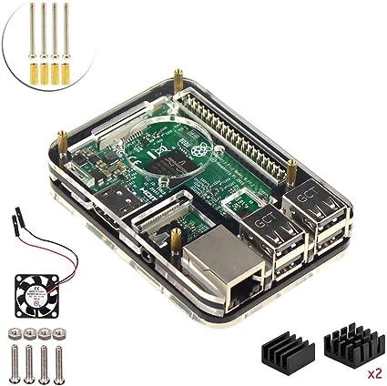 Proyecto Kit para Raspberry Pi 3 (5 capas caso y ventilador de ...