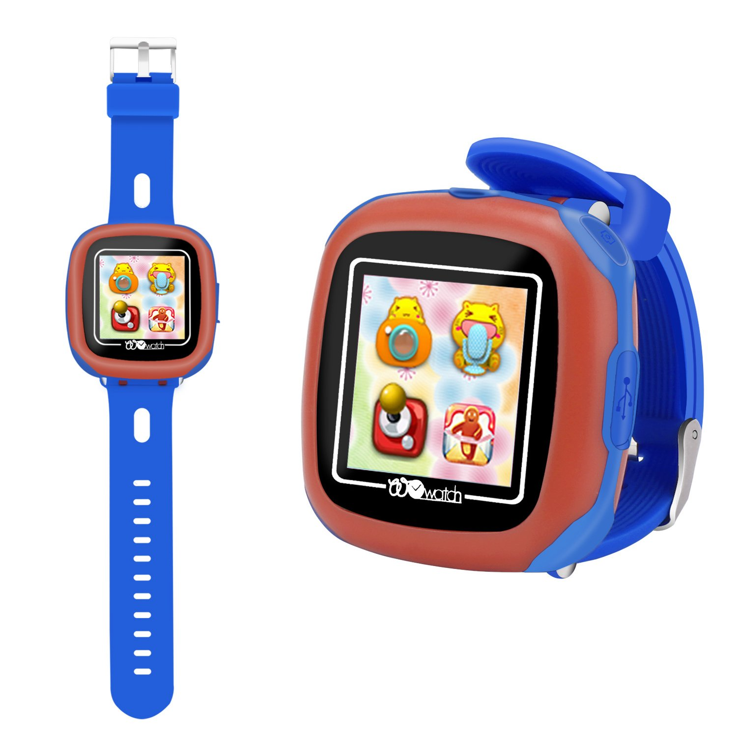 HSX_Z Smart Watch for Kids with Digital Camera Games Touch Screen, Cool Toys Watch Gifts for Girls Boys Children Learning Toys (Blue)