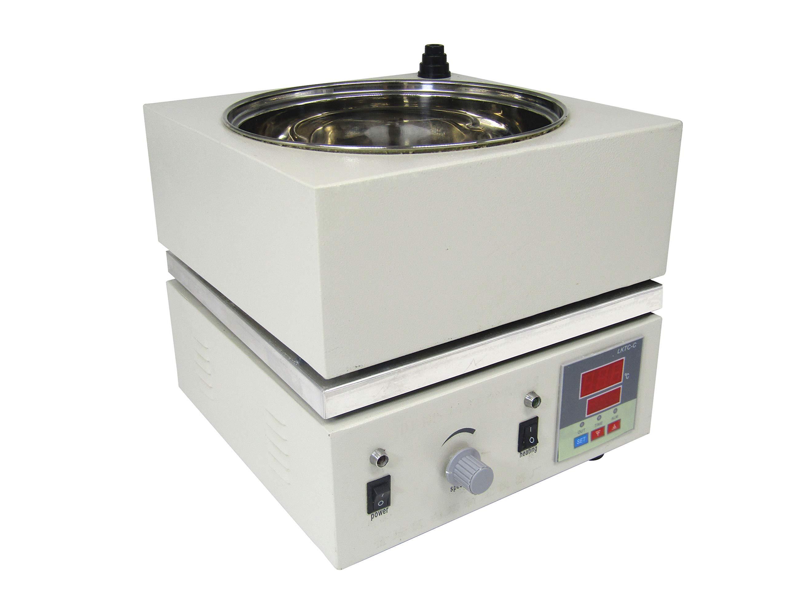 YUCHENGTECH Digital Magnetic Stirrer Mixer Water Oil Bath Heat-gathering Thermostat 300°C 2000ML (110V) by YUCHENGTECH (Image #4)
