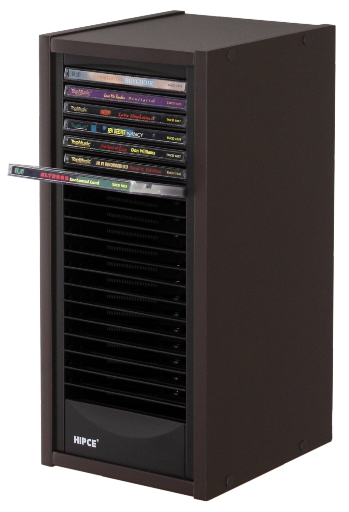 Hipce One Touch 20 CD Tower (Mocha)