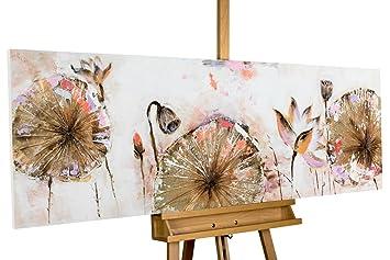 Handgemalte Bilder Auf Leinwand amazon de kunstloft acryl gemälde once in a lifetime 150x50cm