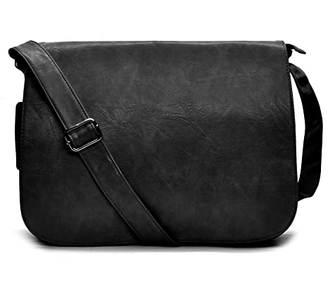 b9fdb641e5 tracolla UOMO DONNA borsa VINTAGE MADE ITALY cinghia pelle grande elegante  marrone nera passeggio lavoro ufficio