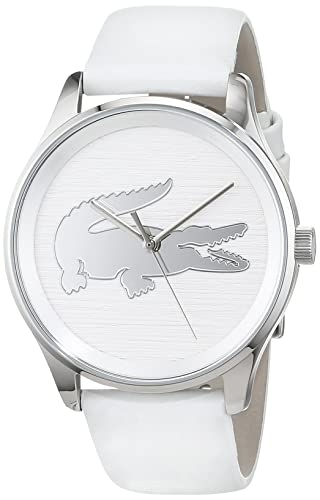 f7e6210370 Lacoste Womens Analogue Classic Quartz Watch with Leather Strap 2001001   Amazon.co.uk  Watches