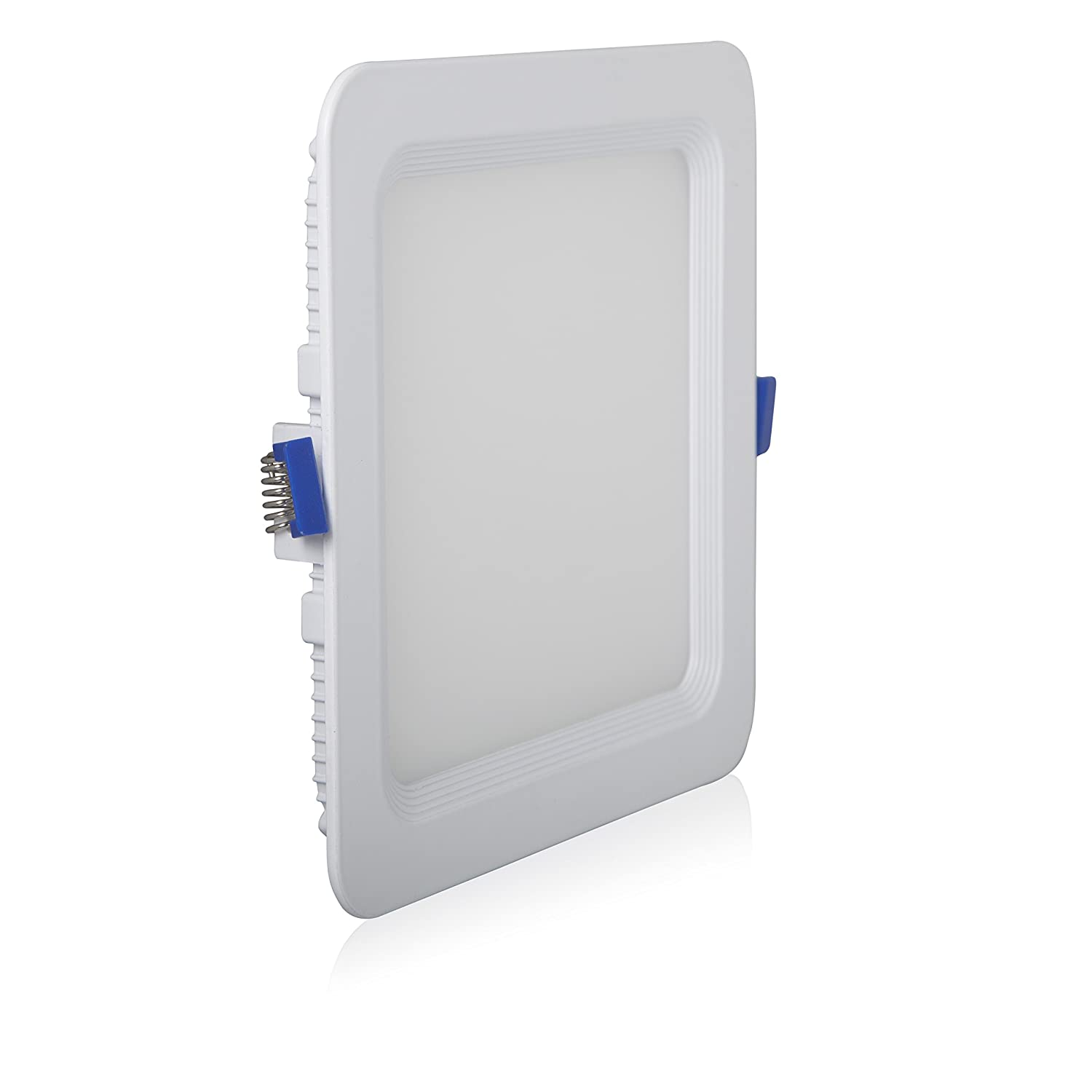 Recessed Retrofit 850 Lumens Maxxima 6 in 12 Watt Junction Box Included. Warm White 2700K Dimmable Slim Round LED Downlight Flat Panel Light Fixture