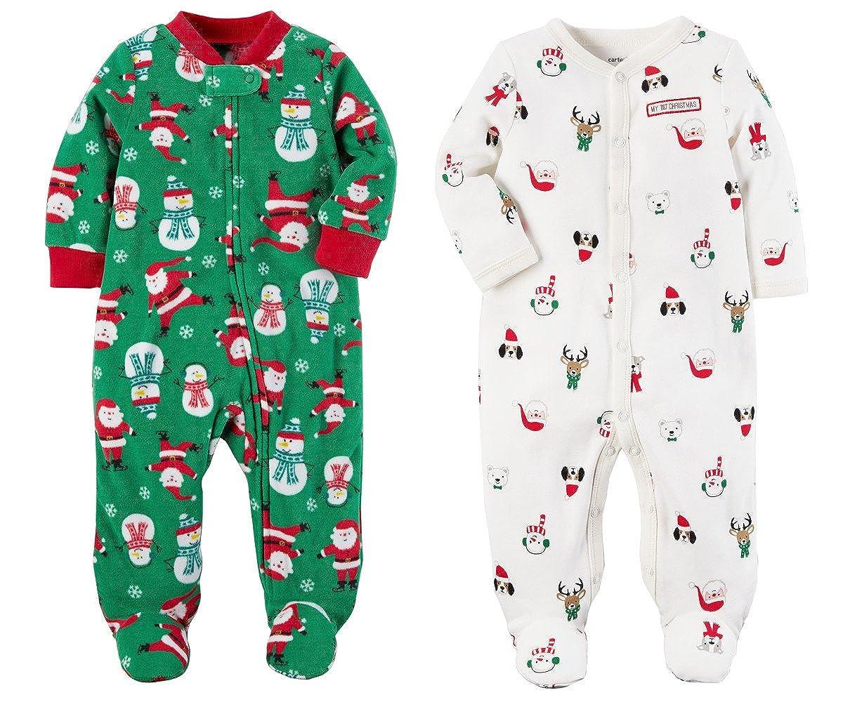 熱い販売 Carter's Baby B077X27FR6 White Clothing SLEEPWEAR ユニセックスベビー Carter's 3 Months Green Fleece and White Cotton B077X27FR6, 京都ー市やま:5133e30f --- a0267596.xsph.ru