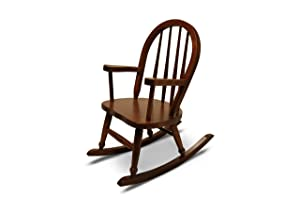 Weaver Craft Child's Rocking Chair Amish Made (Brown Cherry) - Fully Assembled