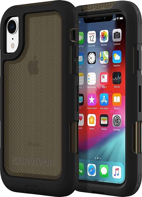 release date: f2dc8 6881b Griffin GIP-004-BLK Survivor Extreme Case for Apple iPhone XR -  Black/Transparent