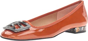French Sole Women's Talisman Brick Patent Flat 9 M