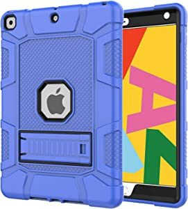 Azzsy iPad 8th Generation Case, iPad 7th Generation Case, iPad 10.2 2020/2019 Case, Slim Heavy Duty Shockproof Rugged High Impact Protective Case for iPad 10.2 inch 2020/2019,Blue