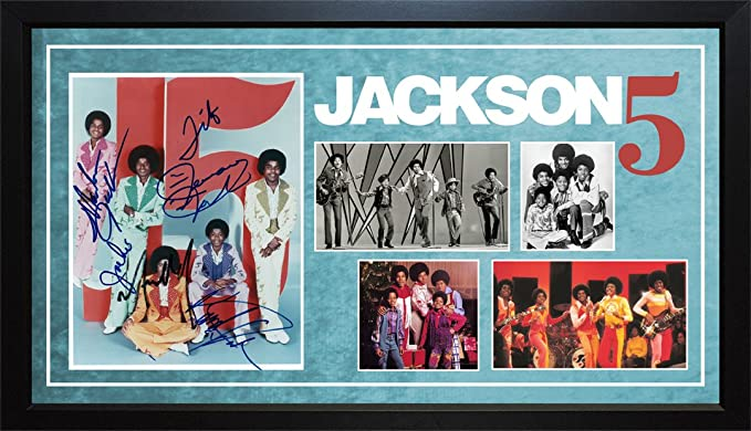 56d1e2863c1 Image Unavailable. Image not available for. Color  The Jackson 5 Five  Michael Plus All Autographed Custom Display Photo AFTAL UACC