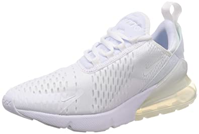 7c07967aa9beb5 Nike Mens Air Max 270 Running Shoes White White-White AH8050-101 Size